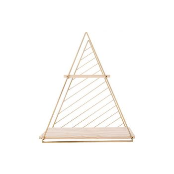 Cosy @ Home Decorek Triangle Goud 37,5x11xh42cm Meta