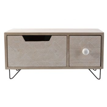 Cosy @ Home Ladenkast Beige 31x14xh15cm Hout