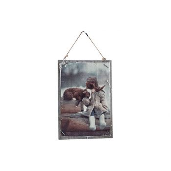 Cosy @ Home Kader Child Sheep Natuur 24x1xh35cm Hout