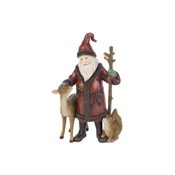 Cosy @ Home Kerstman Deer Bird Rood 181x12,9xh29,6cm