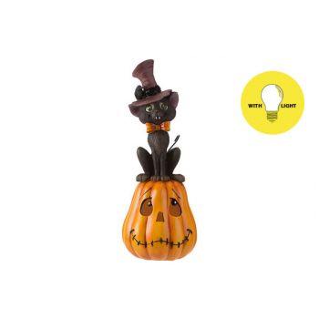 Cosy @ Home Pompoen Cat With Hat Oranje 14x14xh35,6c
