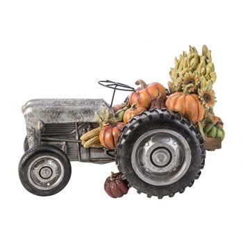 Cosy @ Home Figuur Tractor Grijs 37,5x22,7xh24,3cm R