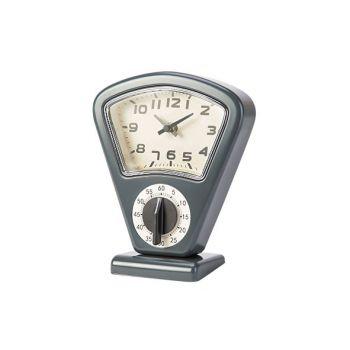Cosy & Trendy Timer En Uurwerk Grijs 17,5x10xh21cm