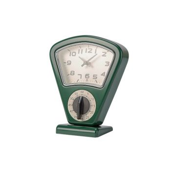 Cosy & Trendy Timer En Uurwerk Groen 17,5x10xh21cm