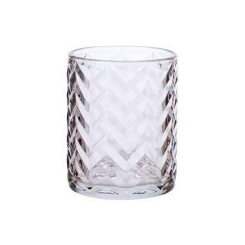 Cosy @ Home Theelichtglas Fleche Roze D10xh12cm Glas