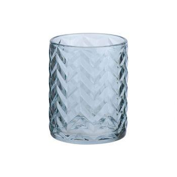 Cosy @ Home Theelichtglas Fleche Blauw D10xh12cm Gla