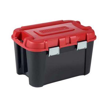 Keter Totem Box 60l Zwart-rood 59x39.5xh36cm