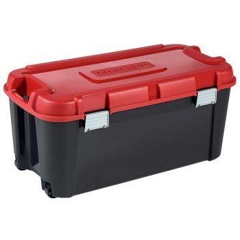 Keter Totem Box 80l Zwart-rood 79.5x39.5xh37.1