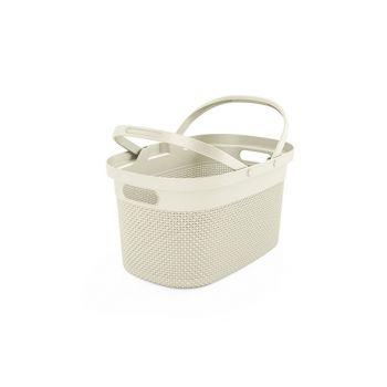 Kis Filo Shopping Basket Ivory 45,5x30xh24cm