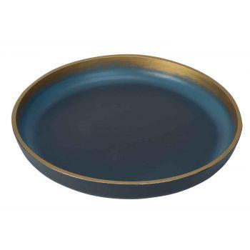Cosy @ Home Dienblad Brush Goud Nachtblauw 39,5x39,5