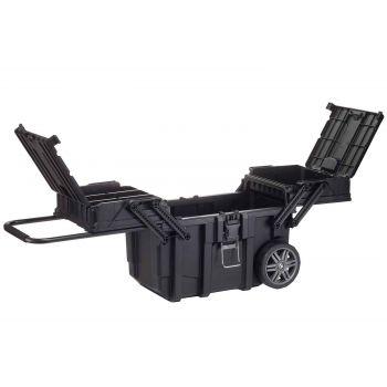 Keter Mobiele Job Box Zwart Met Wielen 64.6x37