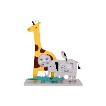 Cosy @ Home Pele Mele Olifant Giraffe Geel 23x6xh26