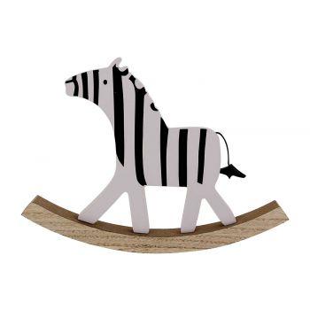 Cosy @ Home Schommel Zebra Zwart-wit 22x2,5xh16cm Ho