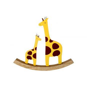 Cosy @ Home Schommel Giraffe  Geel 22x2xh20cm Hout