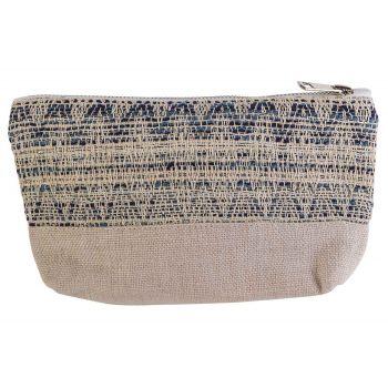 Cosy @ Home Make-up Bag Blue Creme 19x5xh13cm Polyes