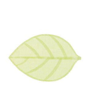 Cosy @ Home Onderlegger Leaf Groen 46x30xh,2cm Texti