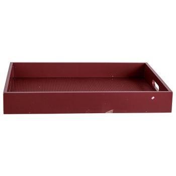Cosy @ Home Dienblad Velvet Bordeaux 40x30xh5cm Rech