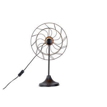 Cosy @ Home Lamp Ventilator Zwart 32x22,5xh53cm Meta