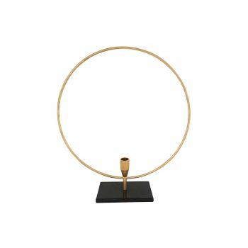 Cosy @ Home Kandelaar Circle Goud 39x9xh44cm Metaal