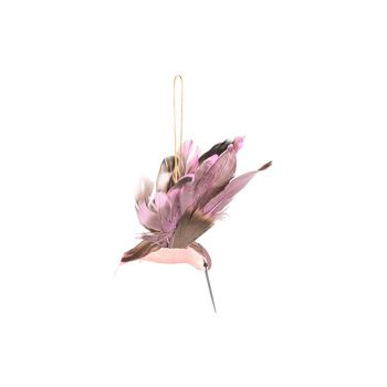 Cosy @ Home Kolibrie Hanger Lila 18x7xh10cm