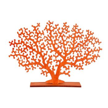 Cosy @ Home Koraalplant Oranje 30xh22cm Hout