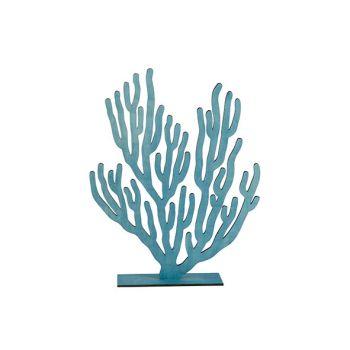 Cosy @ Home Koraalplant Blauw 31xh40cm Hout