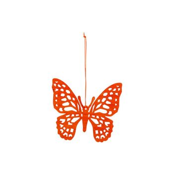 Cosy @ Home Vlinder Hanger Oranje 12xh11cm Hout