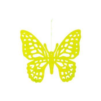Cosy @ Home Vlinder Hanger Groen 25xh22cm Hout