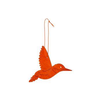 Cosy @ Home Kolibrie Hanger Oranje 14xh10cm Hout