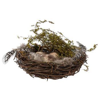 Cosy @ Home Nest Eggs Natuur 15x15xh5cm