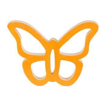 Cosy @ Home Vlinder Hanger Oranje 14x11xh2cm Hout