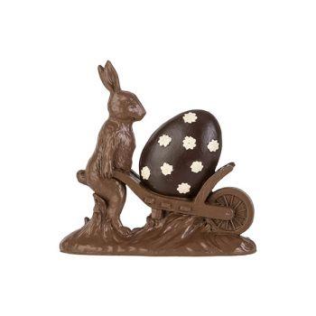 Cosy @ Home Paashaas Cart Chocolat 18,8x5,3xh18,4cm