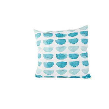 Cosy @ Home Kussen Blue Print  Wit 45x45xh10cm Polye