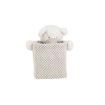 Cosy @ Home Mand Bear Wit Greige 17x17xh20cm