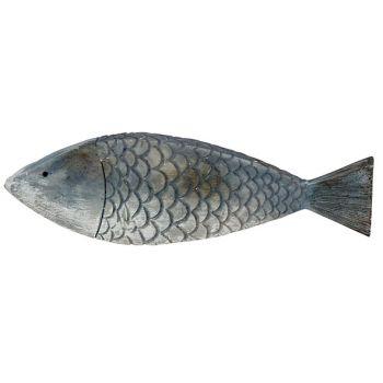 Cosy @ Home Vis Fish Skin Blauw 18,5x2,5xh5,5cm