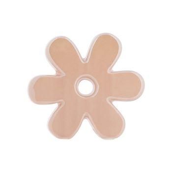 Cosy @ Home Bloem Glazed Roze 14x4xh12,7cm Keramiek