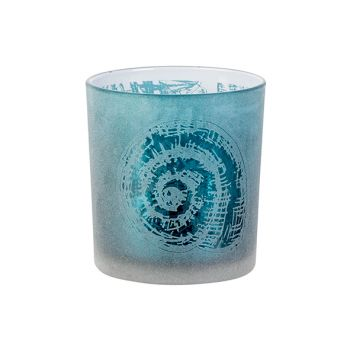 Cosy @ Home Theelichthouder Shell Blauw D7xh8cm Glas
