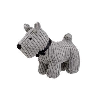 Cosy @ Home Deurstop Dog Grijs 29x15xh23cm Textiel