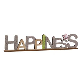 Cosy @ Home Happiness Natuur 50x3xh10cm Hout