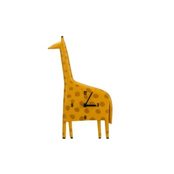 Cosy @ Home Uurwerk Giraffe Geel 17,8x4,1xh29,7cm Po