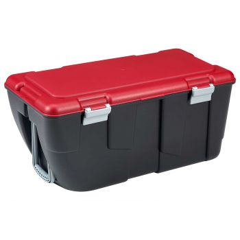 Keter Discover Box 80l Zwart-rood 80.5x43x38cm