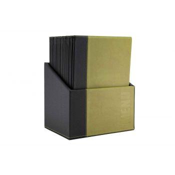 Securit Trendy Menuhouder Groen 34x24,6xh,4cm A4