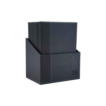 Securit Trendy Menuhouder Blauw 25.3x17.7x0.8cm