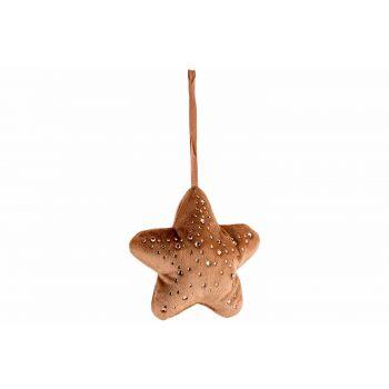 Cosy @ Home Hanger Star Strass Caramel 13x3xh13cm Po