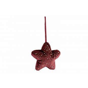 Cosy @ Home Hanger Star Strass Bordeaux 13x3xh13cm P