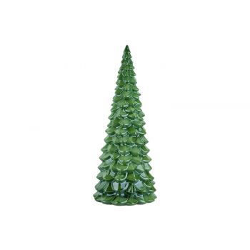 Cosy @ Home Kerstboom Glazed Groen 24x24xh50cm Rond