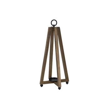 Cosy @ Home Lantaarn Rustic Natuur 17x17xh47cm Hout