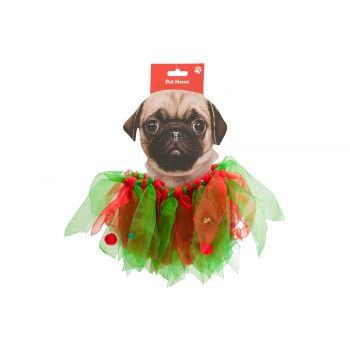 Cosy @ Home Collar Bells Dog Rood Groen 40x3xh16cm T