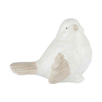 Cosy @ Home Vogel Wit 9.7x5.8xh7.2cm Aardewerk