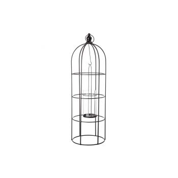 Cosy @ Home Lantaarn Birdcage Zwart 19x19xh57,5cm Me